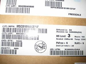 Freescale Embedded Dsp 16bit 275mhz Cpm 332 pbga Msc8101m1375f Lot Of 900 Pcs