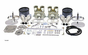 Dual 40mm Carburetor Kit Empi Hpmx Vw Volkswagen Bug Bus And Ghia Weber