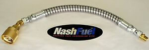 2ft Crimped Liquid Propane Lpg Hose Assembly With Flat Armor Guard Tank Connnect