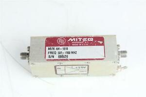 Miteq 500 Mhz 1000 Mhz Rf microwave Narrow Band Low Power Amplifier
