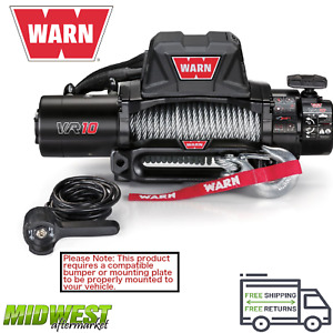 96810 Warn Vr10 10000lb 80ft Wire Rope Winch For Jeeps Trucks Suvs