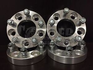 Wheel Spacers 1 Aluminum Adapters Set 4 5 Lug Bolt Hub 5x4 5 Fit Mustang Gt New