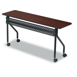 Iceberg Officeworks Mobile Training Table 60w X 18d X 29h Mahogany black