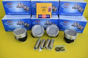 76mm Ycp Vitara Pistons Coated Low Compression Npr Rings Set Honda D16 Turbo