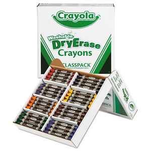 Crayola Washable Dry Erase Crayons Classpack Assorted Colors 96 set