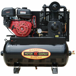 New Gas Air Compressor Truck Mount Industrial Commercial 16hp Electric Start