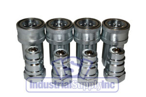 4 Sets 1 2 Agricultural Hydraulic Quick Couplers
