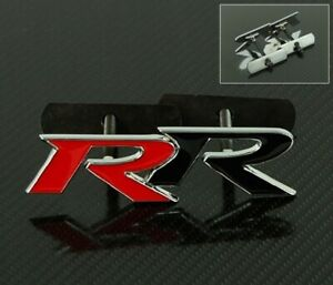 3d Bolt On Metal Black Red Mugen Rr Front Emblem Badge For All Grill Grille