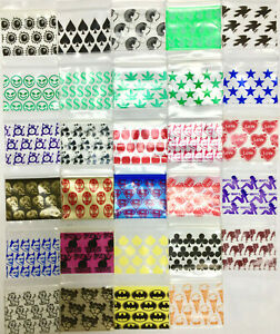 12510 50000 20 Designs Mixed Mini Ziplock Design Bags Baggies 1 25 X 1 2 5ml