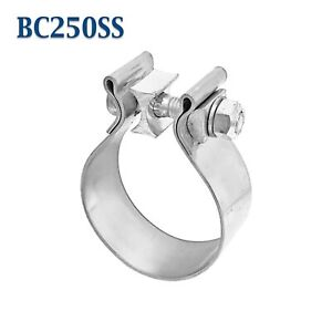 Bc250ss 2 1 2 2 5 Narrow Band Exhaust Clamp Bear River Quality Stainless Steel