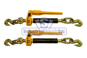 Load Binder Ratchet Tow Chain 5 16 3 8 2 Pack Industrial Supply