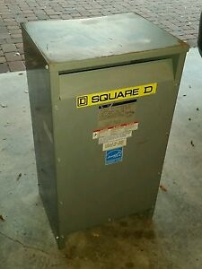 Square D Single Phase Step Up Transformer 25kva 208vac To 240vac Ee25s60h