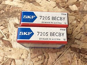2 skf Bearings 7205 Becby 30day Warranty Free Shipping Lower 48