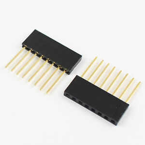 1000pcs 2 54mm Pitch 8 Pin Single Row Stackable Shield Female Header For Arduino