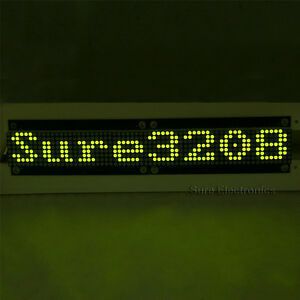 P4 32x8 3208 Green Led Dot Matrix Unit Board Display Panel Updated Version