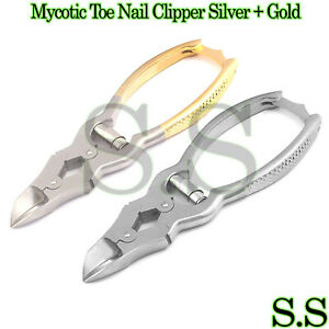 Mycotic Toe Nail Clipper Silver Gold Surgical Instruments