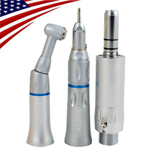 Dental Low Speed Handpiece 2 Hole E type Air Motor Straight Contra Angle Fit Nsk