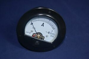 Ac 0 3a Round Analog Ammeter Panel Amp Current Meter Dia 90mm Direct Connect