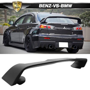 08 17 Mitsubishi Lancer Evo 10 Abs Rear Trunk Spoiler Wing Matte Black