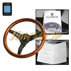 Italy Nardi Rally Deep Corn 330mm Steering Wheel Mahogany Wood With Black Spoke