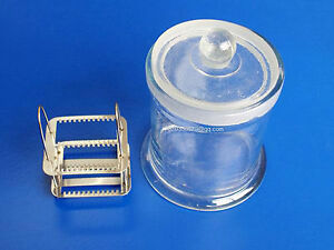 Microscope Slides Glass Coplin Jar 11 12cm Without Staining Rack Stand J382 Lx