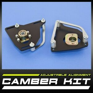 New Pair Left Right Front Camber Caster Kit 2 50 Free Shipping