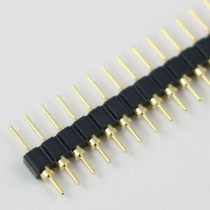 300pcs Gold Plated 2 54mm Male 40 Pin Single Row Straight Round Pin Header Strip