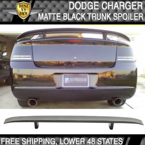 Fits 06 10 Dodge Charger Factory Oe Trunk Spoiler Wing Matte Black Finish Abs
