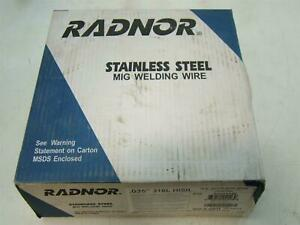 Radnor Stainless Steel Mig Welding Wire Plastic Spool Coiled Wire 035 316l 640