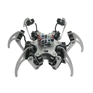 18dof Aluminium Hexapod Spider Six Legs Robot Kits With Servo Horn For Arduino