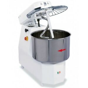 Spiral Dough Mixer 40 Liters 38kgs 84lb 2 Speed Made In Italy