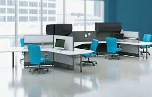 Divi Modern Collaborative Office Modular Workstation desk table cubicle panels