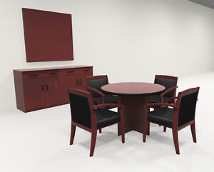 Modern Contemporary Round Veneer Office Conference Table ro cor c23