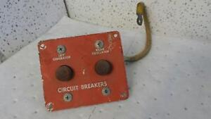Aircraft Panel Circuit Breaker Left Generator Right Generator