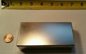 Huge Neodymium Block Magnet Super Strong Rare Earth N52 4 X 2 X 1 Inch