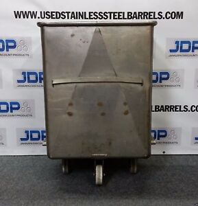 Stainless Steel Meat Buggy Tank On Casters Approx 80 Gallon
