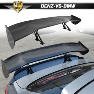 56 Inch Universal Fit 3d Carbon Fiber Cf Gt Style Trunk Spoiler Rear Wing Deck