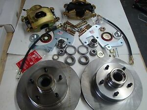 1959 1960 1961 1962 Corvette Front Disc Brake Complete Kit Fits Orig 15 Wheels