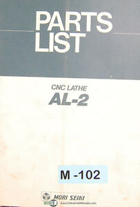 Mori Seiki Al 2 Cnc Lathe Parts List Manual