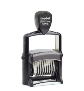 Trodat Professional 55510 Numbering Self Inking 10 Band Stamp
