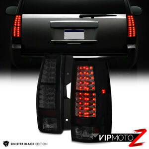 2007 2014 Chevy Suburban Tahoe Yukon Sinister Black Led Rear Tail Lights Lamps
