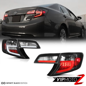 2012 2014 Toyota Camry Se Le Hybrid Black Neon Tube Led Rear Brake Tail Light