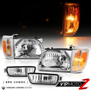 For 01 04 Toyota Tacoma Factory Style Replacement Headlight Corner Bumper Lamp