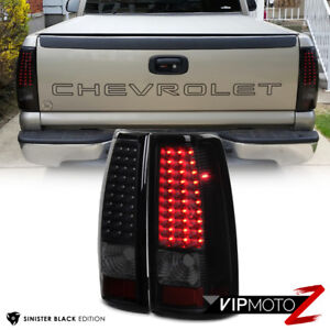 Sinister Black 1999 2002 Chevrolet Silverado 1500 2500 Led Tail Lights Lamps