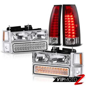 Factory Style Upgrade Suburban Tahoe Silverado Red Led Tail Light Headlight