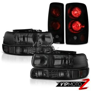 2000 2006 Chevy Suburban 1500 Bumper Headlights Sinister Black Tail Brake Lamp