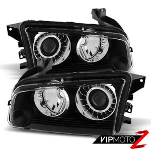 2008 2009 2010 Dodge Charger Factory Hid Model D1s Black Headlights Assembly