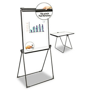 Universal One Foldable Double Sided Dry Erase Easel 28 5 X 37 5 White black