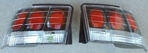 1999 2004 Ford Mustang Cobra Gt V6 Carbon Fiber Look Tail Lights Set New By Apc