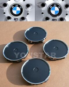 Us Stock Brand New X4 Conversion Wheel Center Caps Chrome Ring Version For Bmw